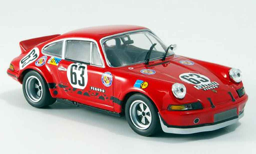 Porsche 911 RSR 1/43 Minichamps Carrera 2.8 No.63 GELO 24H Le Mans 1973 miniature