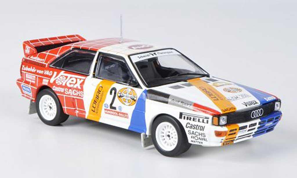 Audi Quattro 1/43 Minichamps No.2 Lobro/Votex Demuth/Lux Hunsuck Rally 1984 miniature