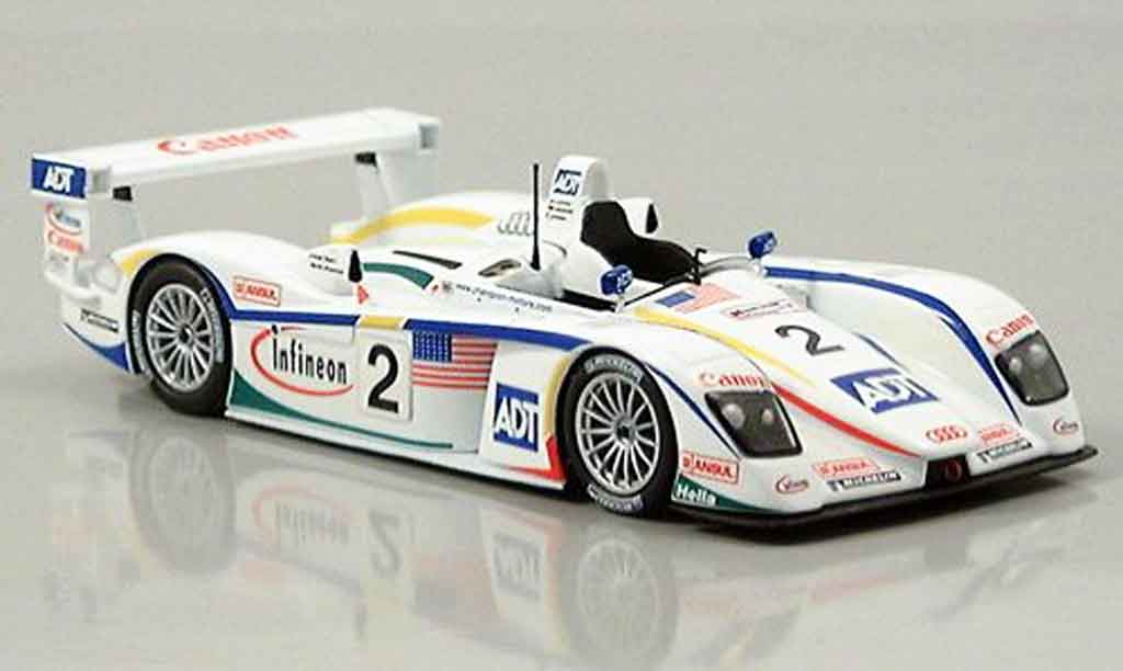 Audi R8 2004 1/43 Minichamps LeMans Letho Werner Pirro modellino in miniatura