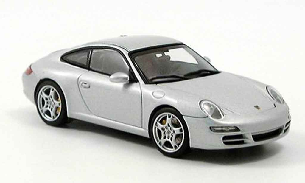 Porsche 997 Carrera 1/43 Autoart Carrera grey metallisee diecast model cars