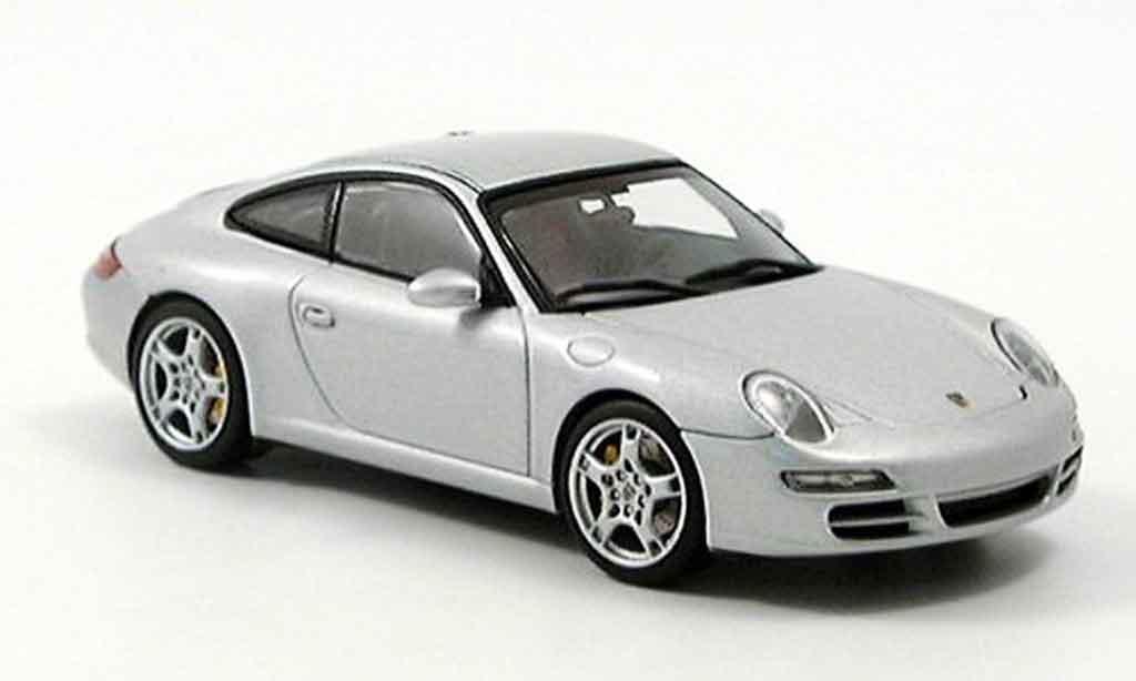 Porsche 997 Carrera 1/43 Autoart Carrera grise metallisee miniature