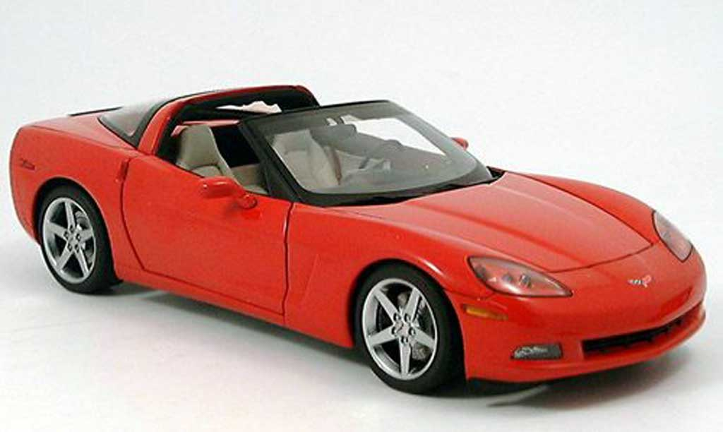 Chevrolet Corvette C6 1/18 Autoart coupe (c6) rouge miniature