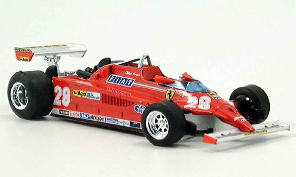 Ferrari 126 1981 1/43 Brumm CK turbo no.28 d.pironi gp monte carlo modellautos