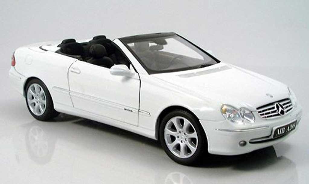 Mercedes Classe CL cabriolet 1/18 Kyosho K cabriolet white 2003 diecast model cars