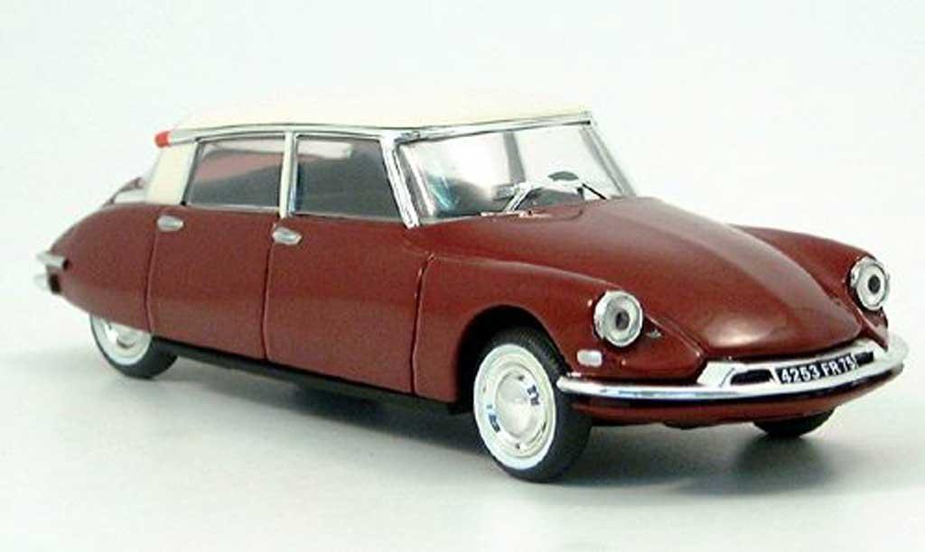 Citroen DS 19 1/43 Nostalgie noire-rouge/blanche  1956 miniature