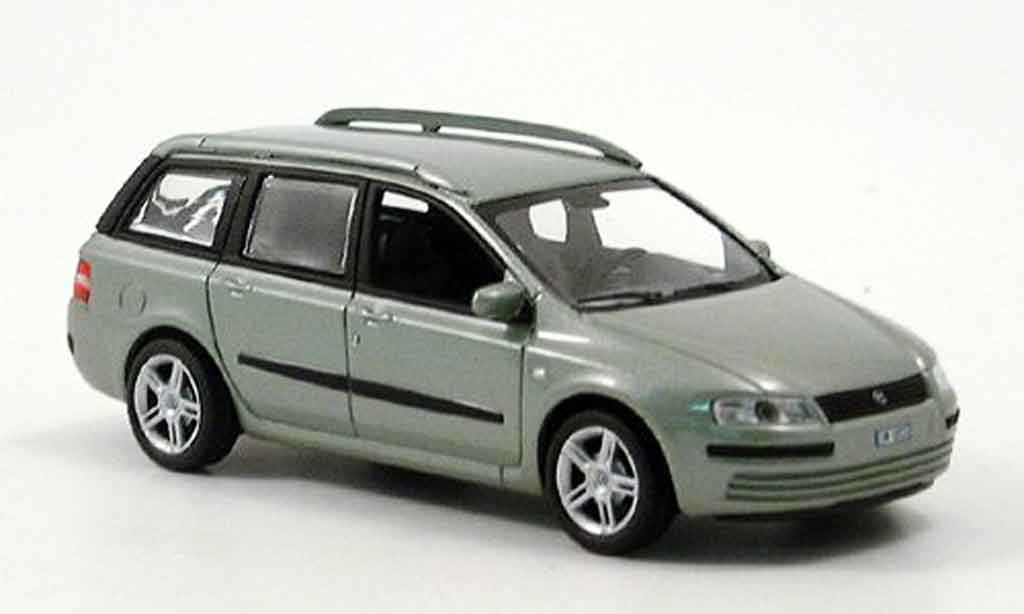 Fiat Stilo 1/43 Norev Multi Wagon gris verde miniatura