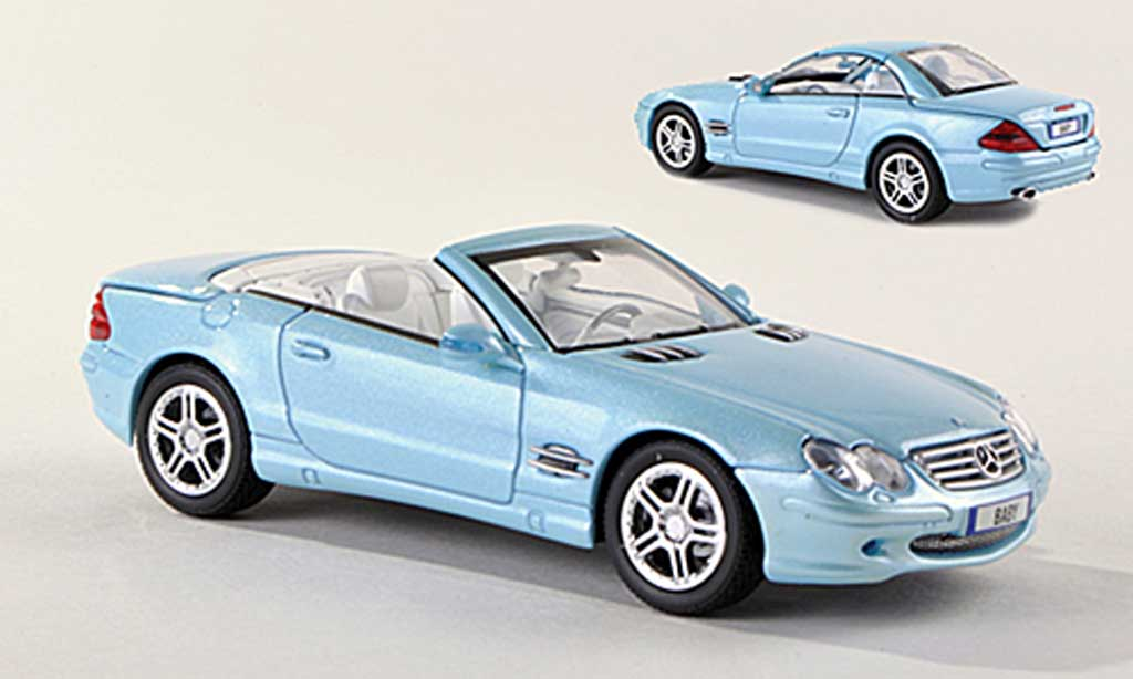 Mercedes Classe SL 500 1/43 Norev 500 (R230) clair-bleu diecast model cars