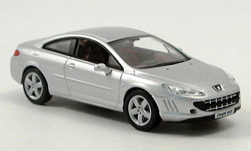 Peugeot 407 coupe 1/43 Norev grise 2005 miniature