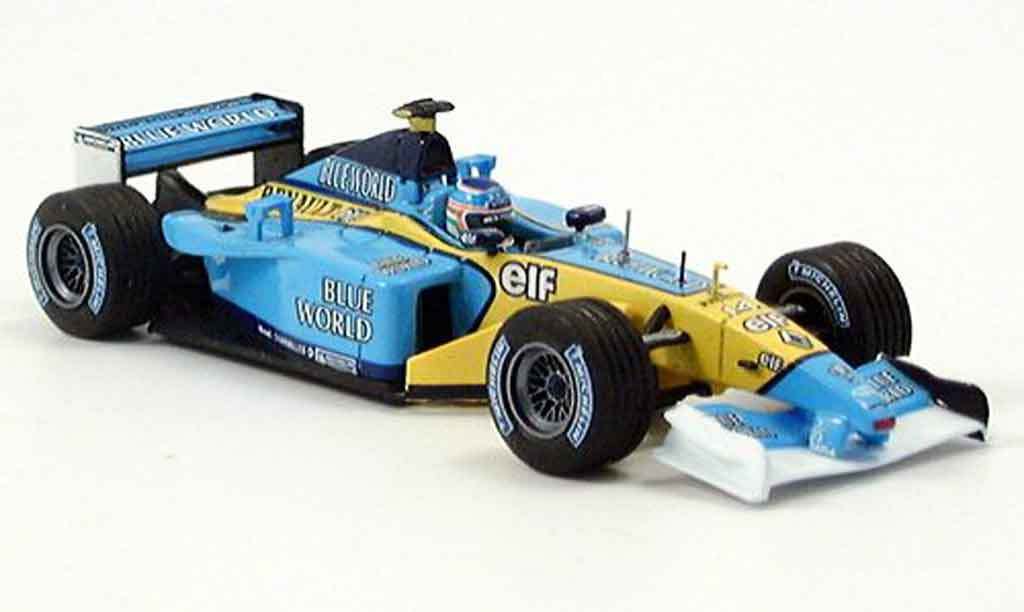 Renault F1 1/43 Eagle team rs 202 no.14 j.trulli blue world miniature