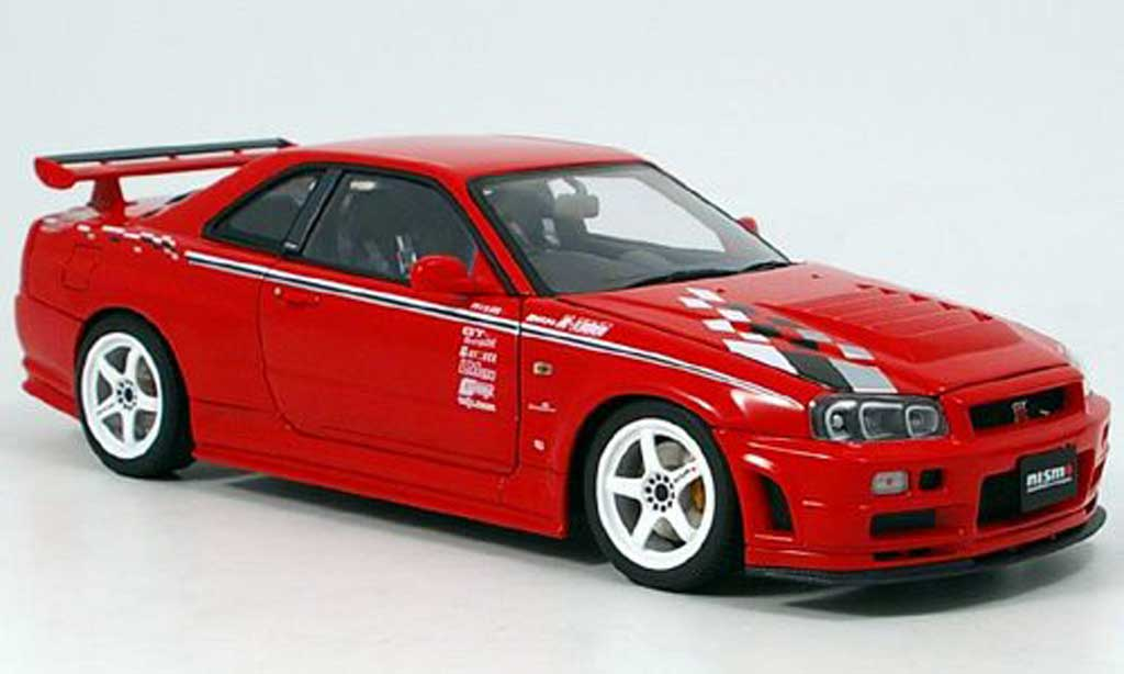 Nissan Skyline R34 1/18 Autoart gt-r r-tune r1 red 2002 diecast model cars