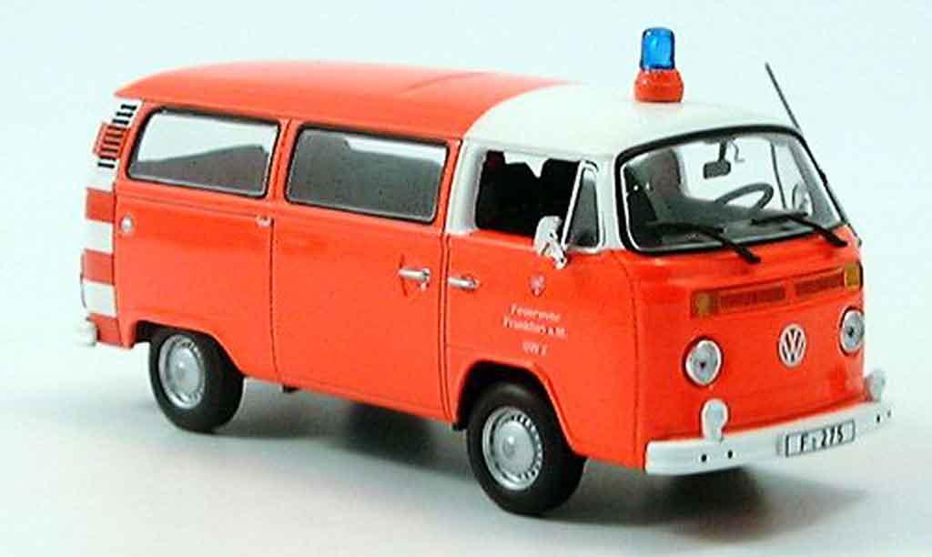 Volkswagen Combi 1/43 Minichamps t2 bus pompier frankfurt 1976 diecast