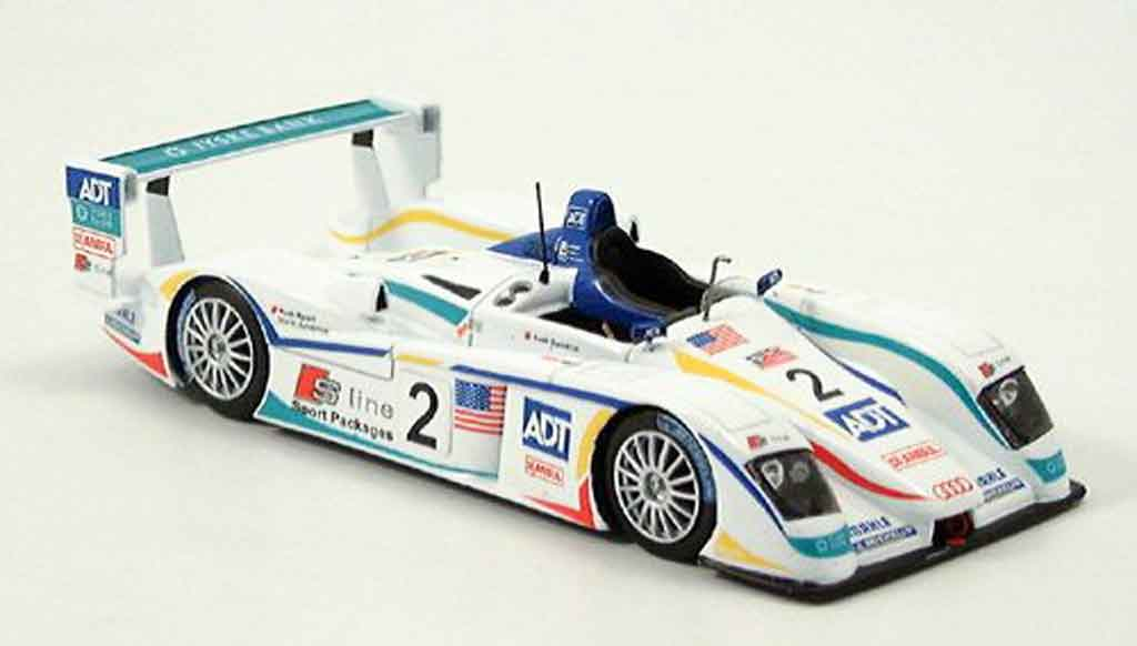 Audi R8 2005 1/43 Spark 2005 Team No. 2 LeMans diecast model cars