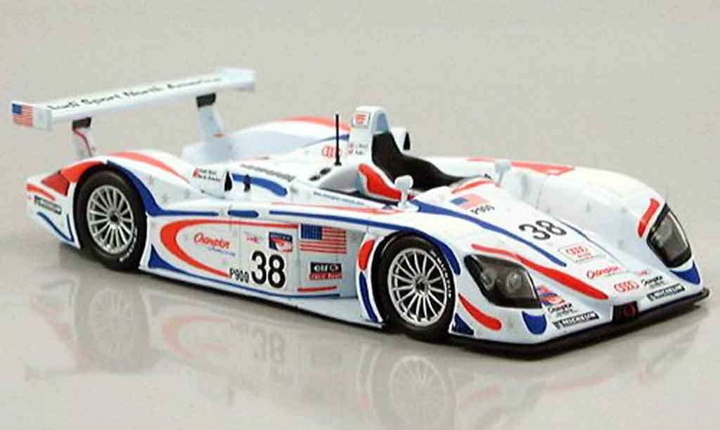 Audi R8 2001 1/43 Minichamps Petit LeMans Road Atlanta Herbert Wallace diecast model cars