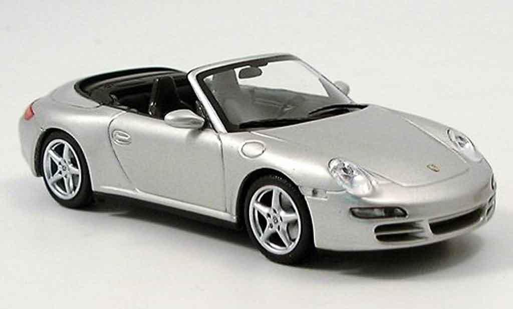 Porsche 997 4S 1/43 Minichamps Cabriolet Carrera grey metallisee 2005 diecast model cars