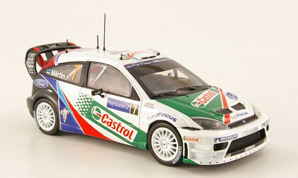 Ford Focus RS WRC 1/43 Minichamps No.7 Castrol Sieger Rally Korsika 2004 miniature