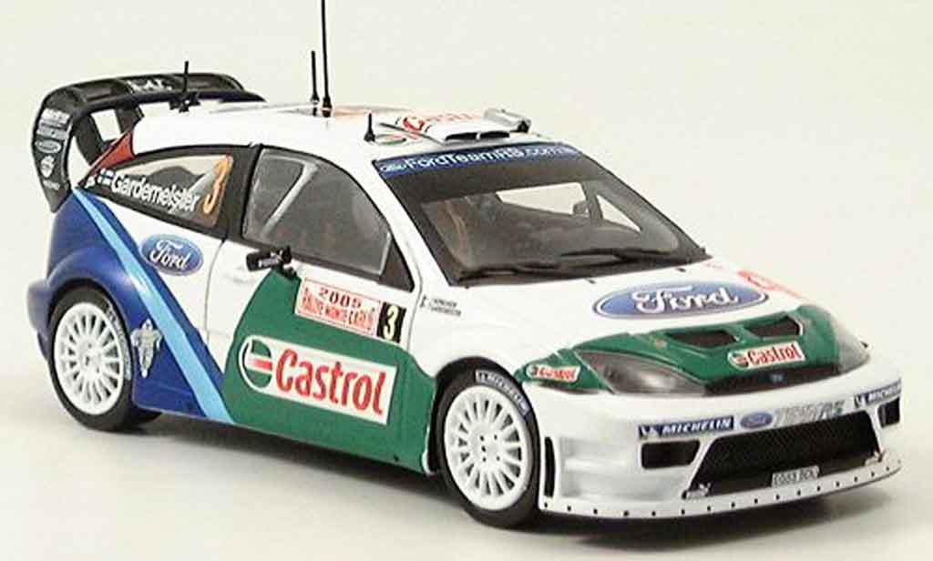 Ford Focus RS WRC 1/43 Minichamps MonteCarlo Gardemeister Honkanen 2005 miniature