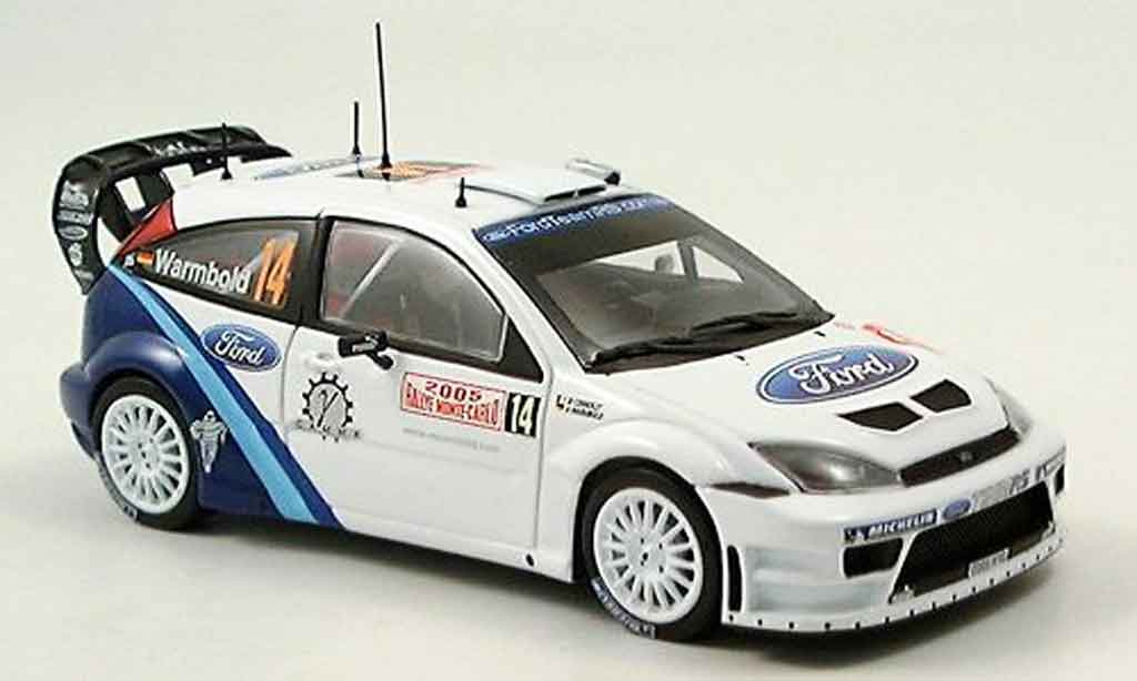 Ford Focus RS WRC 1/43 Minichamps MonteCarlo Warmbold Connolly 2005 miniature