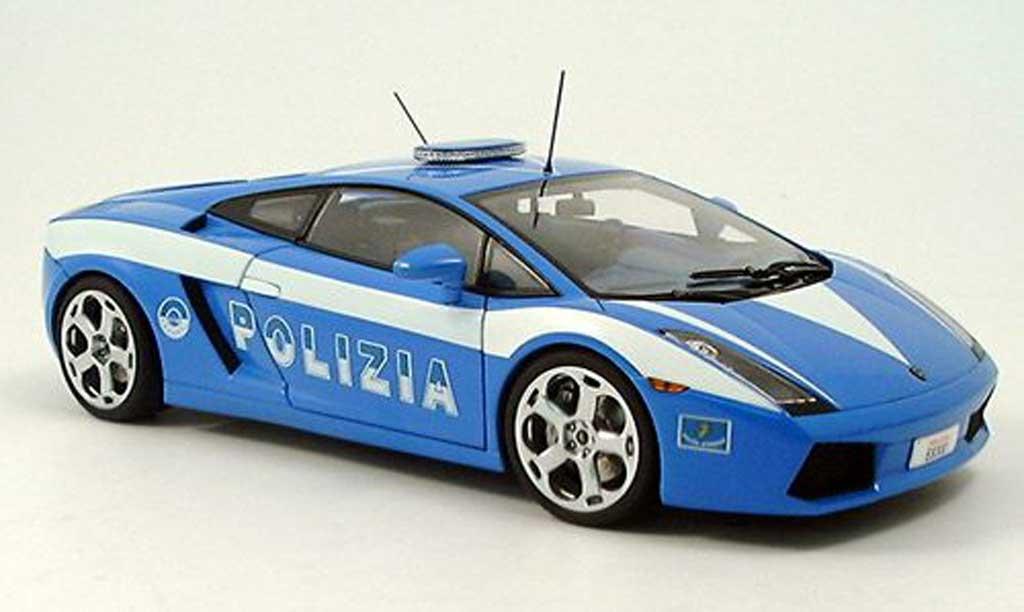 Lamborghini Gallardo 1/18 Autoart police italien miniature