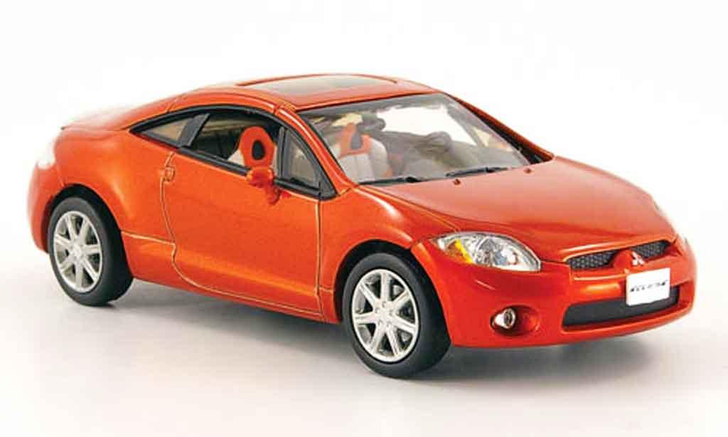 Mitsubishi Eclipse 1/43 Norev orange 2005 diecast