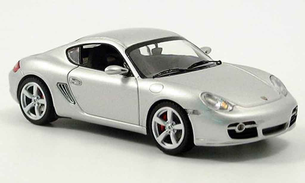 Porsche Cayman 1/43 Schuco S grise metallisee miniature