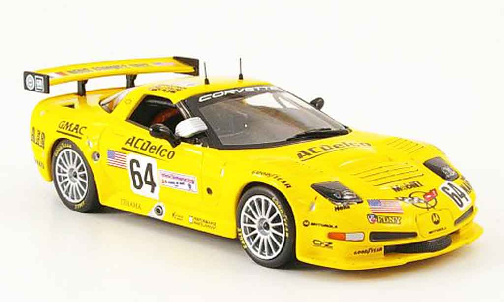 Chevrolet Corvette C5 1/43 IXO R No. 64 Le Mans 2002 diecast model cars