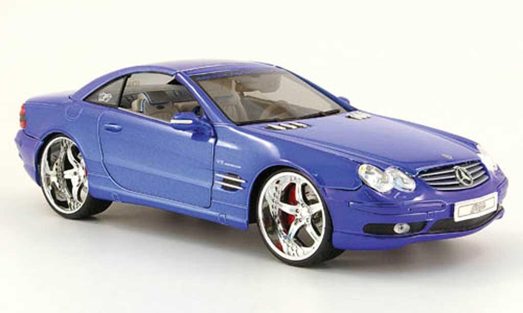 Mercedes Classe SL 1/18 Maisto 55 amg playerz tuningcar  bleu modellautos
