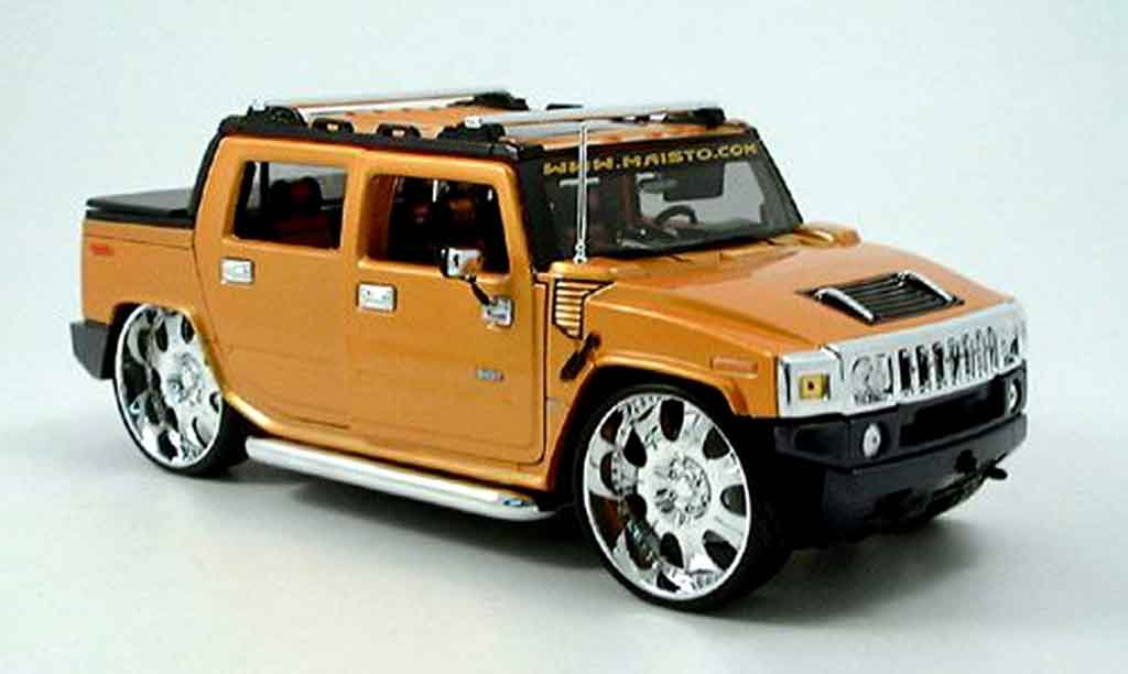 Hummer H2 1/18 Maisto sut concept orange tuningcar playerz miniature