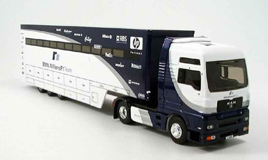 Bmw F1 2005 1/43 Eligor MAN TG XXL Williams Truck