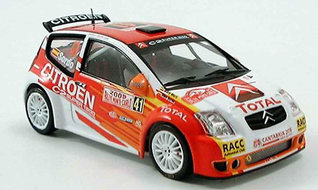Citroen C2 S1600 1/43 IXO no.41  rallye monte carlo 2005 diecast