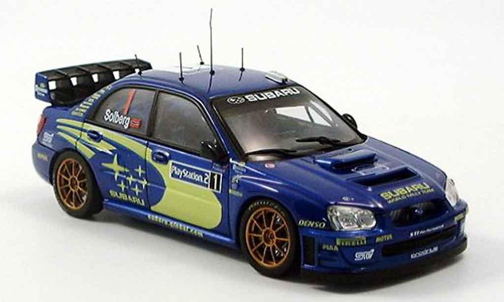 Subaru Impreza WRC 1/43 Autoart solberg mills rallye tour de corse 2004 modellino in miniatura