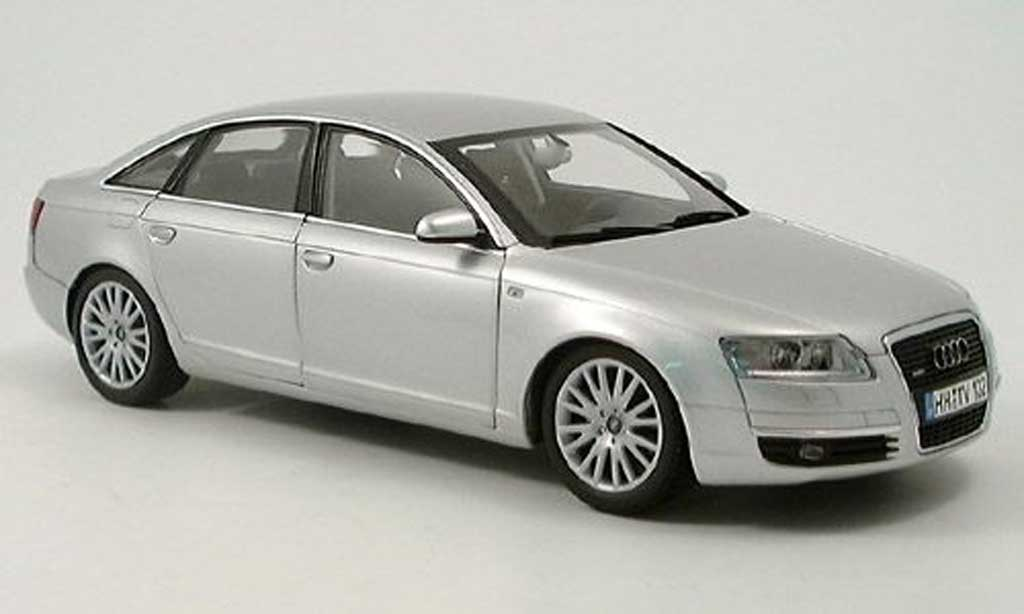 Audi A6 1/18 Norev grise metallized 2005 miniature