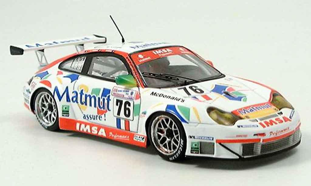 Porsche 996 GT3 RS 1/43 Spark No. 76 Le Mans 2005 diecast model cars
