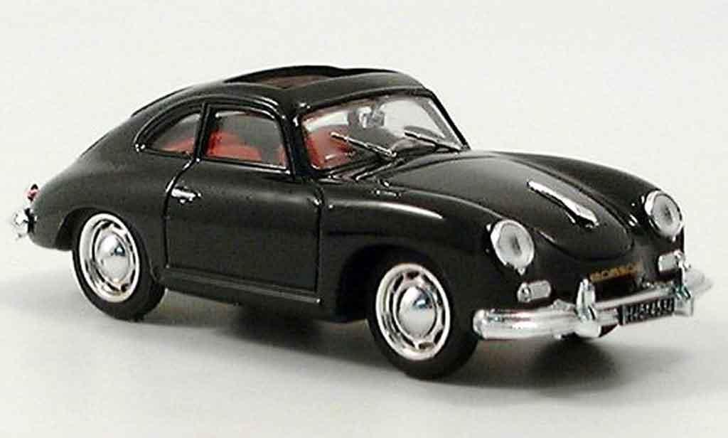 Porsche 356 1952 1/43 Brumm Coupe noire geoffnetes Schiebedach miniature