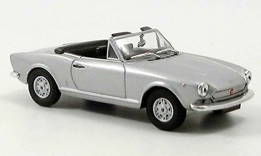 Fiat 124 1/43 Starline Spider gray metallisee diecast