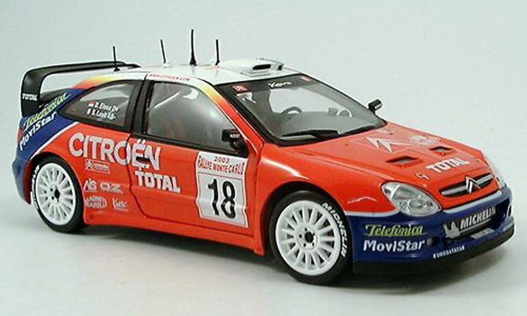 Citroen Xsara WRC 2003 1/43 Sun Star No.18 Total Rally Monte Carlo S.Loeb/D.Elena miniature