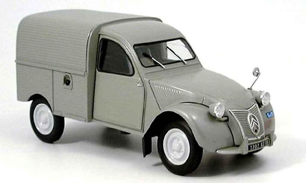 Citroen 2CV 1/18 Norev ente kastenwagen grise miniature