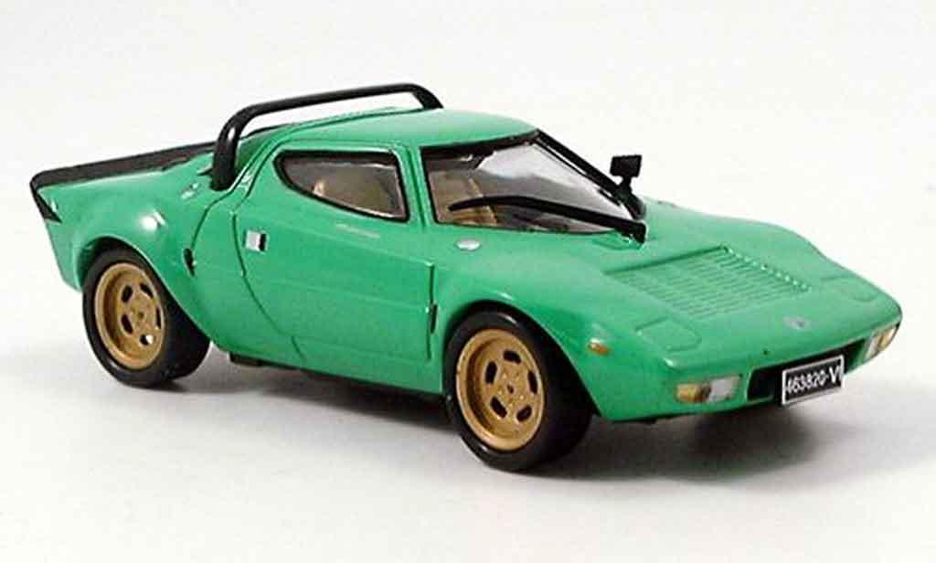 Lancia Stratos HF 1/43 Edison verte miniature