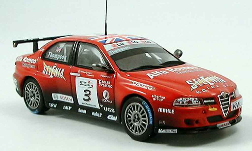 Alfa Romeo 156 GTA WTCC 1/43 Spark no. 3 selenia thompson 2005 miniature