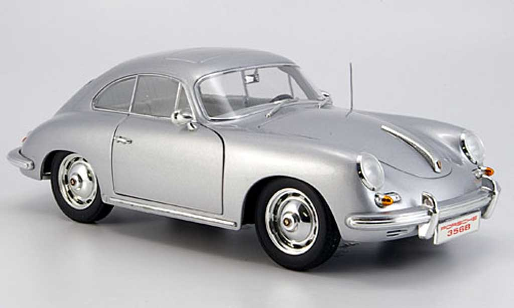Porsche 356 1960 1/18 Ricko B coupe grey diecast model cars