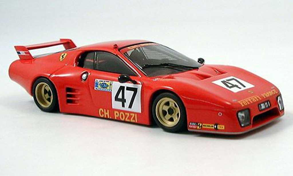 Ferrari 512 BB LM 1/43 IXO No. 47 Ballot Le Mans 1981 miniatura