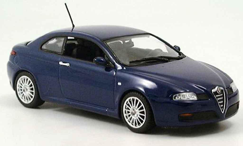 Alfa Romeo GT V6 1/43 Minichamps 3.2 bleu 2003 miniatura