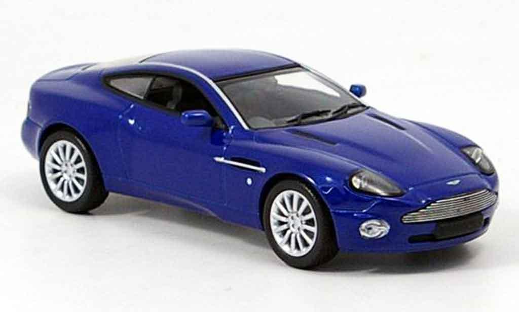 Aston Martin Vanquish 1/43 Minichamps v12  bleu miniature