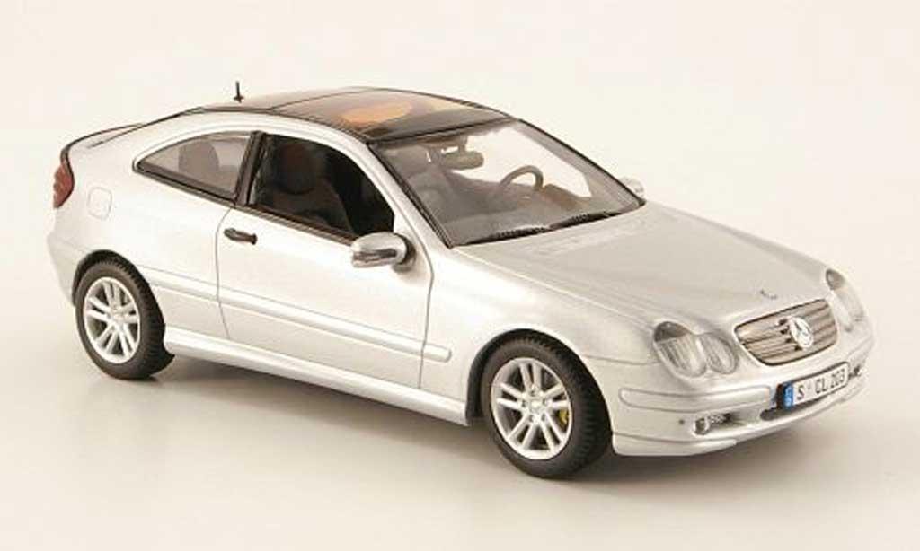 Mercedes Classe C 1/43 Minichamps Sport Coupe (CL203) grise 2000 miniature