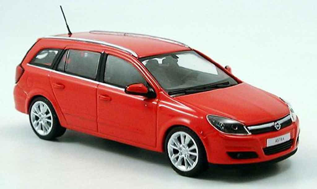 Opel Astra 1/43 Minichamps caravan rouge 2004 miniature