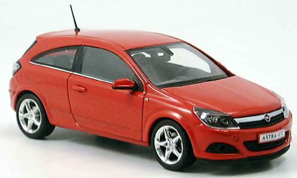 Opel Astra 1/43 Minichamps gtc rouge 2005 miniature