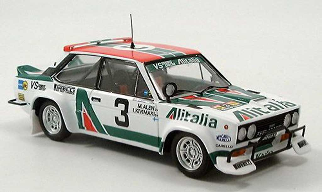 Fiat 131 Abarth 1/43 Trofeu Rallye Safari 1979 diecast model cars