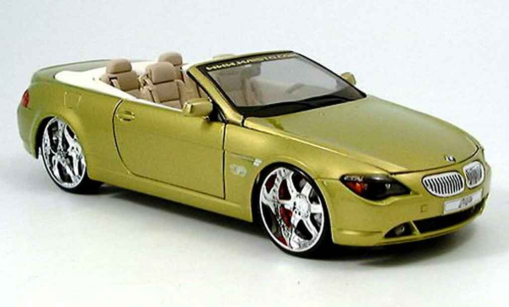 Bmw 645 E64 1/18 Maisto ci cabriolet playerz or miniature