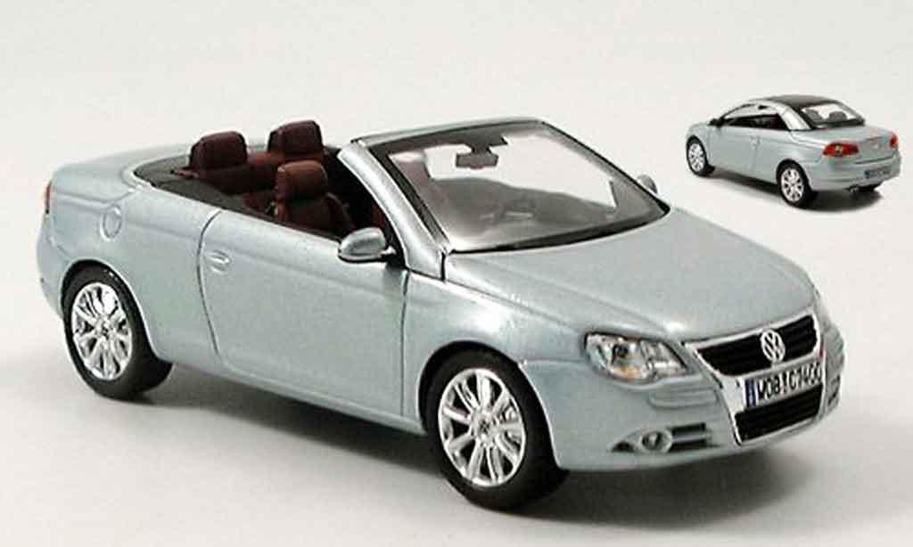 Volkswagen Eos 1/43 Norev cabrio grise metallisee avec hardtop miniature