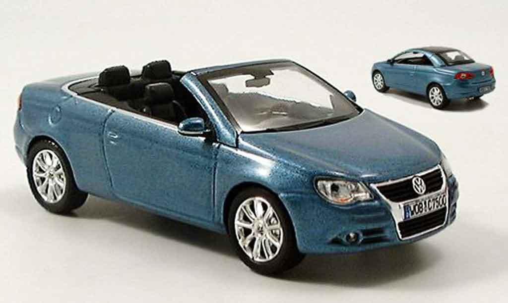 Volkswagen Eos 1/43 Norev cabrio azul avec hardtop miniatura