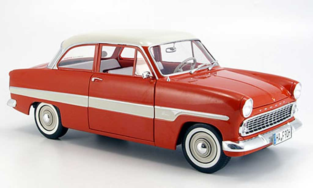 Ford Taunus 1/18 Revell 12m rouge/blanche bandes 1962 miniature